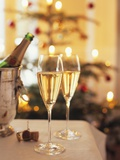 Two Glasses of Sparkling Wine for Christmas Party Photographic Print by Joerg Lehmann