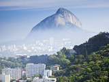 South America, Brazil, Rio De Janeiro, View of the Dois Irmaos, Two Brothers, Mountains with Ipanem Photographic Print by Alex Robinson