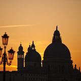 Basilica Di Santa Maria Della Salute at Sunset, Venice, Veneto Region, Italy Photographic Print by Nadia Isakova