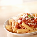Rigatoni with Tomato Sauce and Parmigiano Photographic Print