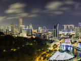 Singapore, Elevated View over Fort Canning Park and the Modern City Skyline Photographic Print by Gavin Hellier