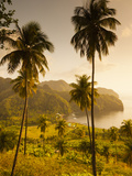 St. Vincent and the Grenadines, St. Vincent, Leeward Coast, Chateaubelair, Elevated Coastal View Photographic Print by Walter Bibikow