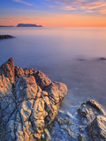 Italy, Sardinia, Olbia-Tempio District, Budoni, Coastline and Tavolara Island Photographic Print by Francesco Iacobelli