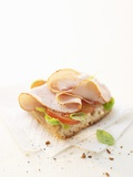 Smoked Chicken Breast on Baguette Photographic Print by Marc O. Finley