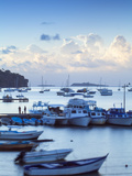 Dominican Republic, Eastern Peninsula De Samana, Samana, View of Harbour at Twilight Photographic Print by Jane Sweeney