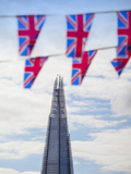 UK, England, London, the Shard and Union Jack Flags Photographic Print by Jane Sweeney