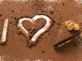 I Heart Chocolate Tart Photographic Print
