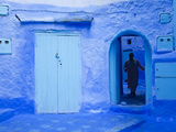 Narrow Lane, Chefchaouen, Morocco Photographic Print by Peter Adams