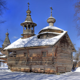Chapel from Kashira, Museum of Wooden Architecture Vitoslavlicy, Veliky Novgorod, Novgorod Region,  Fotografie-Druck von Ivan Vdovin