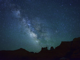 Night Sky at Goblin Valley State Park, Colorado Plateau, Utah, USA Photographic Print by Christian Heeb