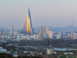 North Korea, Pyongyang, Elevated City Skyline View Towards the Ryugyong Hotel Photographic Print by Gavin Hellier