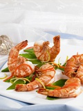 Prawns with Julienne Vegetables Photographic Print by Barbara Lutterbeck
