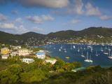 St. Vincent and the Grenadines, Bequia, Port Elizabeth, Elevated Town View from the Hamilton Batter Photographic Print by Walter Bibikow
