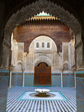 The Beautifully Ornate Interior of Madersa Bou Inania, Fes, Morocco Fotografie-Druck von Doug Pearson