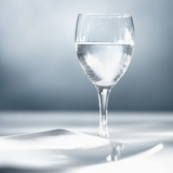A Glass of Water with Plate Photographic Print