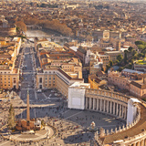 Cityscape from Dome, St Peter's Square, Rome, Lazio, Italy, Europe Photographic Print by Francesco Iacobelli