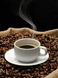 A Cup of Coffee on a Jute Sack Full of Coffee Beans Photographie par Gustavo Andrade