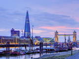 UK, England, London, River Thames, the Shard and Tower Bridge Photographic Print by Alan Copson