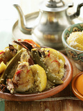 Couscous with Chicken, Courgettes, Tomatoes, Lemons and Cinnamon Photographic Print