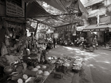 Woman Selling Rice and Vegetables, Old Quarter, Hanoi, Vietnam Photographic Print by Jon Arnold