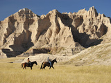Lakota Indians in the Badlands of South Dakota, USA Photographic Print by Christian Heeb
