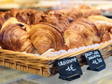 France, Provence, Nimes, Croissants in Bakery Photographic Print by Shaun Egan
