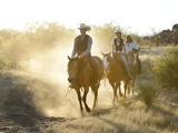 Apache Indians and Cowboys, Apache Spirit Ranch, Tombstone, Arizona, USA MR Photographic Print by Christian Heeb