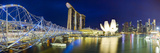 The Helix Bridge and Marina Bay Sands, Marina Bay, Singapore Photographic Print by Gavin Hellier