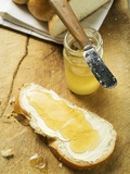 Slice of Bread Plait with Butter and Honey Photographic Print