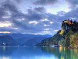 Slovenia, Bled, Lake Bled and Castle Photographic Print by Michele Falzone