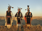 Lakota Indians in the Badlands of South Dakota, USA Photographic Print by Christian Heeb
