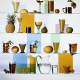 A Selection of Non-Alcoholic Cocktails Photographic Print by Diana Miller