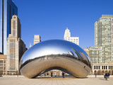USA, Illinois, Chicago, the Cloud Gate Sculpture in Millenium Park Photographic Print by Nick Ledger