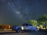 Truck at Night at Apache Spirit Ranch, Near Tombstone, Arizona, USA Photographic Print by Christian Heeb