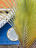 St. Vincent and the Grenadines, Bequia, Port Elizabeth, Beach House Detail Photographic Print by Walter Bibikow