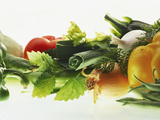 Fresh Vegetables with Herbs Photographic Print