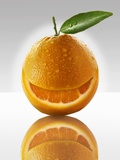 One Orange with a Slice Taken Out of It Photographic Print by Paul Williams