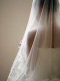 Bride with Veil Photographic Print by Tanya Zouev