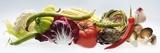 Horizontal Strip of Different Vegetables Reproduction photographique
