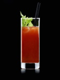 Bloody Mary with Straw Photographic Print by Walter Pfisterer