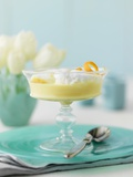 Vanilla Pudding with Meringue Photographic Print by Jim Norton