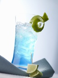 """Blue Light"" (Cocktail) Photographic Print by Klaus Arras"