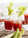 Bloody Mary with Celery Photographic Print by Barbara Lutterbeck