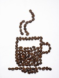 Shape of a Cup of Coffee in Coffee Beans Photographie par Gustavo Andrade