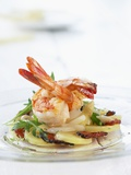 Fried Prawns on Potato, Asparagus and Ham Salad Photographic Print by Jo Kirchherr