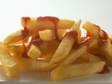 Chips with Ketchup Photographic Print