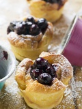 Individual Bread Puddings with Cherries and Icing Sugar Photographic Print