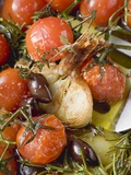 Fried Cherry Tomatoes with Garlic and Olives Photographic Print