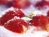 Frozen Strawberries Photographic Print by Dieter Heinemann
