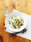 Shell Pasta with Courgettes Fotografisk tryk af Jim Norton